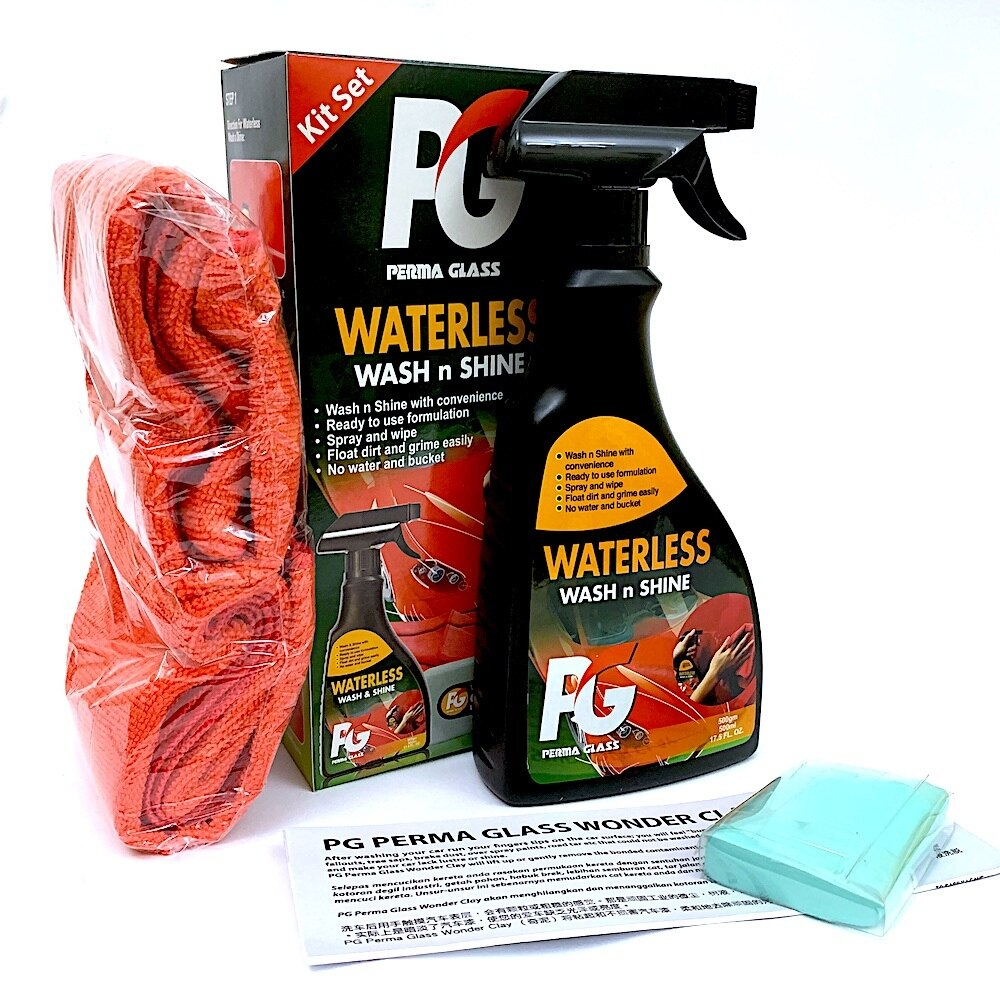 PG Perma Glass Waterless wash n shine kit